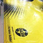 900 Gsm Heavy Duty PVC Coated Tarpaulin Truck Cover For Cargo In Yellow Color