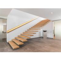 China Prima modern prefabricated stairs wood stair floating stair steel stringer stair on sale