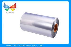 China 40 MIC Transparent Blown PVC Shrink Film For Shrink Sleeve Label on sale