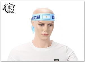 China Unisex World Cup Argentina Flag Logo Headband Wrist Band Hair Band with Custom Logo on sale