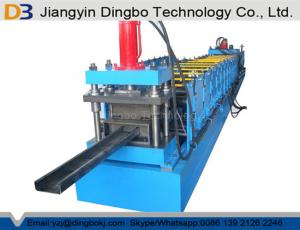 China 1.5-3.0mm GI Hydraulic Decoiler C Purlin Channel Roll Forming Machine Motor Power 5.5kw on sale