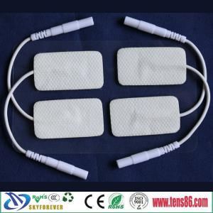 China fabric tens ems self adhesive electrode gel pad for pulse massage device on sale