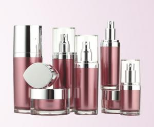 Quality 15ml 30m 50ml l 100ml lotion container,Skincare containers with silver oval lid for sale