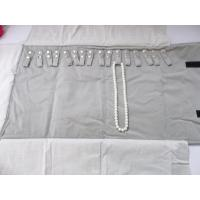 Soft Touching Roll Up Jewelry Organizer , Travel Jewelry Roll Bag For Exhibition
