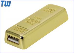 China Gold Bar 16GB USB Thumb Drive Sliding Design Heavy Solid Material on sale