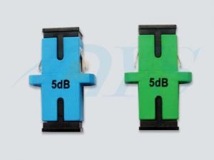 China Simplex Module Fiber Optic Attenuator 0.5 dB Green / Blue With Stable Performance on sale
