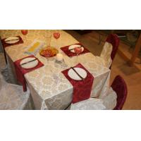 China 2013 new style jacquard  table cloth for wedding on sale