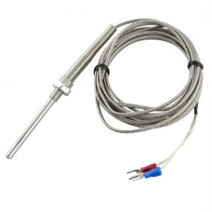 China 1 Meter Insulation Wire Thermocouple RTD with Stainless Steel Braided Screen on sale