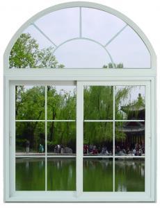 China Soundproof White / Blue Sliding Aluminum Frame Windows With ROTO / SIEGENIA Hardware on sale