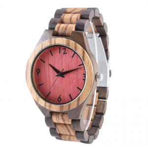 China Japan movement quartz watch fashion 100 % wooden watches for men on sale