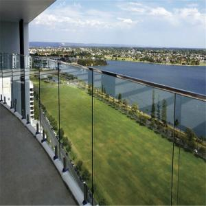 China Exterior Tempered Glass Panels Railing / Glass Balustrade Design on sale