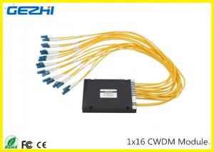 China 1x16CH CWDM Mux Demux Module 1260~1620nm LC connecter Multiple wavelengths to choose on sale