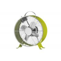 Retro Metal Desk Clock Fan with 2 Speed Settings for Home & Office UK