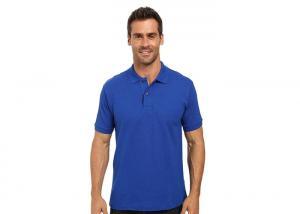 China Adult Rib - knit neck Short Sleeve Polo Shirts 100% Cotton With Sublimation Logo on sale