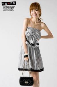 China Sexy Dress/Women's Dress/Striped Dress/Big Bowknot Dress on sale