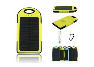 China Compact Portable Solar Power Bank 5000 MAh Waterproof Dual Usb External Battery on sale