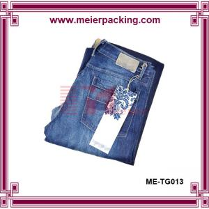 China Custom recycle garment hangtags label,clothing paper hangtag for jeans ME-TG013 on sale