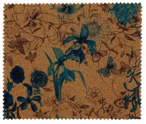 China Promotional Nature Cork Fabric/Leather for bag and shoes making with PU backing,waterproof and dust resistance on sale