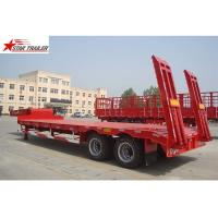 2 Axles 40T Low Bed Oilfield Pipe Hauling Trailer 30-60T Strong Trailer Frame