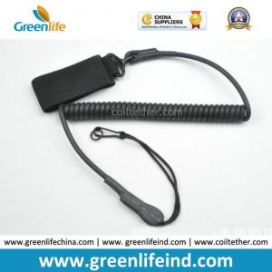 China Elastic Military Tactical Pistol Coil Lanyard Strong Handy Tool Tether on sale