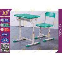 Durable Kid's School Desk And Chair PE Seat And Back Comfortable