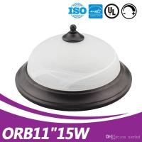 """modern glass cover ceiling fixture mounted driverless 11"""" 15w ul led ceiling lamp"""