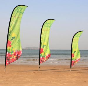 China Beautiful feather promotional digital heat transfer printing custom flags banners on sale
