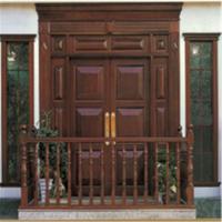 Double opening solid wood door/timber door