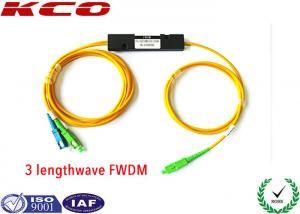 China 1310 1550 1490nm EPON Splitter FWDM Filter Wavelength Division Multiplexer on sale