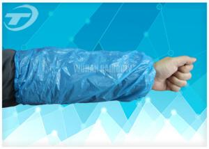 China LDPE Blue Color Disposable Sleeve Covers Protectors For Arms on sale