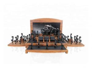 China Natural Wood Watch Display Stand /  Watch Display Set Silk Screen Logo on sale