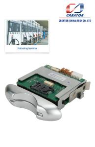 China Manul Insert Hybrid Card Reader For Smart Card / Kiosk Card Reader With RS232 Interface on sale