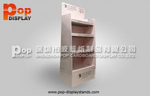 China Pink Cosmetic Cardboard Display Stands ,  Floor Display Stands In Supermarket on sale
