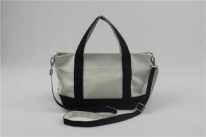 China Beautiful Crossbody Shoulder Bags , Large Capacity Navy Canvas Handbag Stamping Printing on sale