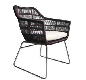 China Outdoor Plastic Rattan Folding Aluminium Furniture Metal Modern American Style Relax For Lounge Slat Rattan Garden Chair on sale