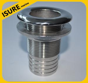 China Stainless Steel Covered Thru-Hull Bilge Pump Hose Fitting for Boats on sale