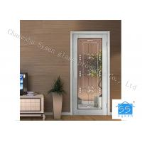 China Entry Door Decorative Panel Glass 22 * 64 / Custom Size Steel Frame Material on sale