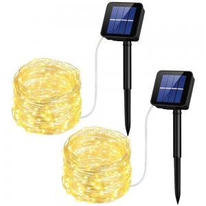 China 10M Solar Led String Lights Solar Powered Rope Lights 1 Year Warranty on sale
