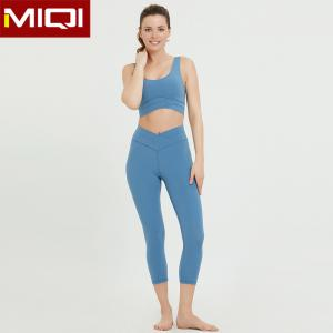 China CTTC Fitness Yoga Wear Women Athletic Bra And Capris Set on sale