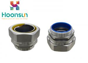 China Hexagonal Male Flexible Metal Hose Fittings , Waterproof Conduit Fittings on sale
