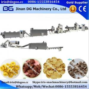 China Kelloggs cereal corn flakes coco ball ring pic snack food production line on sale