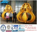 3.2CBM Hydraulic Orange Peel Grab for waste recyling plant RDF Grapple