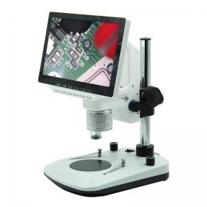 China LED Light Source DC12V Digital LCD Microscope Pole Stand 200*255*60mm Size on sale
