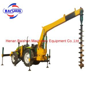 China New electric pole digging machine pole erection machine for photovoltaic on sale