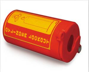 China ZC-PM31 Polystyrene Plastic Gas Cylinder Lockout, One Padlock Can Be Applied on sale