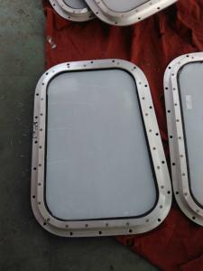 China Marine Fixed Aluminum Frame Bolt Mounted Marine Wheelhouse Windows on sale