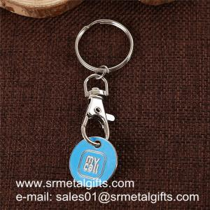 China Super store trolley cart coin key holder, China supplier wholesale trolley coin key rings, on sale