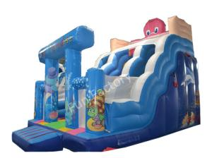 China Rent Sea Paradise Theme Outdoor Garden Inflatable Water Slide For Adults on sale