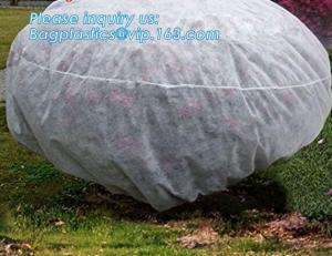 China pp material woven fabric in tubular roll with black colour for agricultural mulch film, Biodegradable pp spunbond nonwov on sale