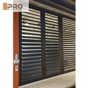 China Outdoor Plantation Shades Shutters , Long Life Span Aluminum Jalousie Windows on sale